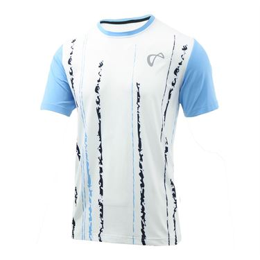Athletic DNA Falling Lines Boys Mesh Crew - Blue
