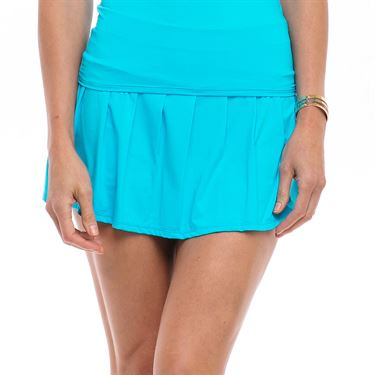 Bluefish Safari Pleated Skirt Womens Sky Blue B1801 SKB