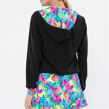 Bluefish Hearts Amore Jacket - Black/Heart