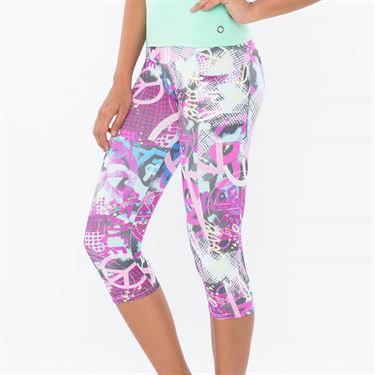 Blue Fish Peace Full Capri - Peace Print