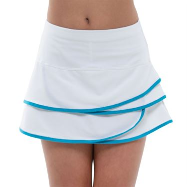 Lucky in Love Square Are You Girls Scallop Skirt White/Turquoise B32 409