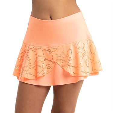 Lucky in Love Eyelet Go Girls Lace Flounce Skirt Orange Frost B68 824