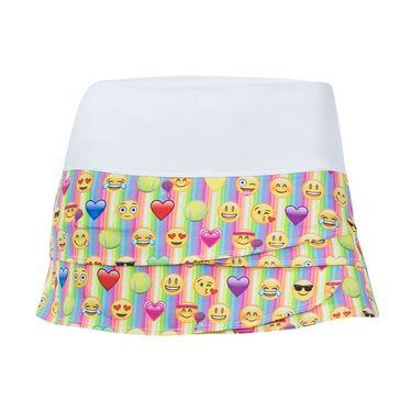 Lucky in Love Girls Emoji Rave Skirt - Multi Color