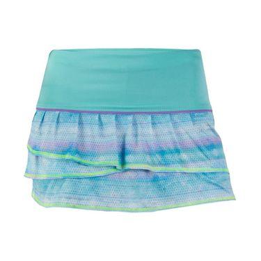 Lucky In Love Girls Shoreline Pleat Tier Skirt - Lagoon