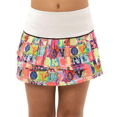 Lucky in Love Rockin Rococo Girls Lucky Lane Skirt Pink B72 D09648