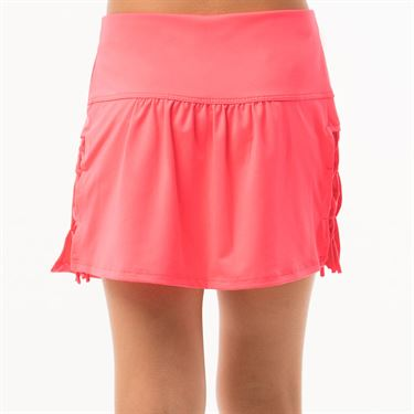 Lucky in Love Neon Vibes Girls Why Knot Skirt - Coral Crush