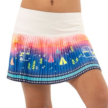 Lucky in Love Novelty Girls How We Roll Pleated Skirt Multi B96 D27955