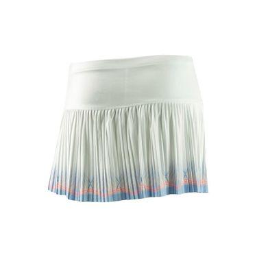 Lucky In Love Girls Celestial Geo Astral Pleated Skirt - White