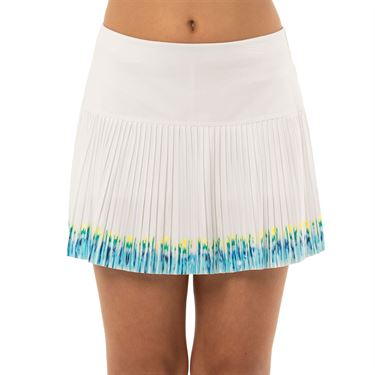 Lucky in Love Peace Out Girls Let It Be Pleated Skirt Opal B98 D06470