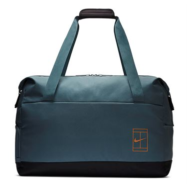 Nike Court Advantage Tennis Duffel Bag - Aviator Grey/Thunder Grey/Fuel Orange