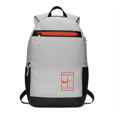 Nike Court Tennis Backpack - Vast Grey/Black/Turf Orange