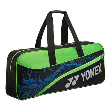 Yonex Team Tournament Tennis Bag - Black/Lime