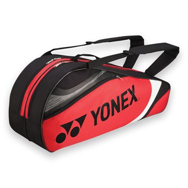 Yonex Tournament Basic Red/Black 6 Pack Tennis Bag
