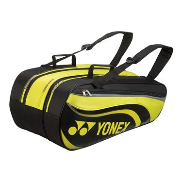 Yonex Active 9 Pack Tennis Bag - Black/Lime