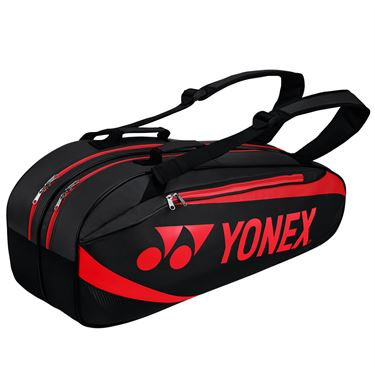 Yonex Active 6 Pack Tennis Bag - Black/Red