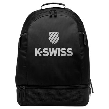 K-Swiss Tennis Backpack - Black/Silver