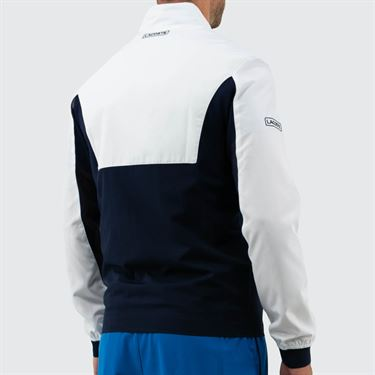 Lacoste Ceremony Jacket - White/Navy Blue