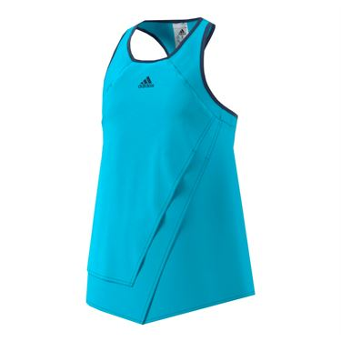 adidas Girls Melbourne Line Tank - Blue