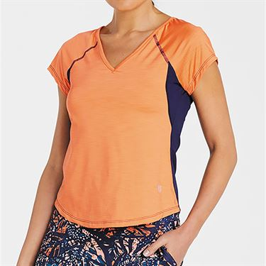 Eleven Bonita Cap Sleeve Top - Orange