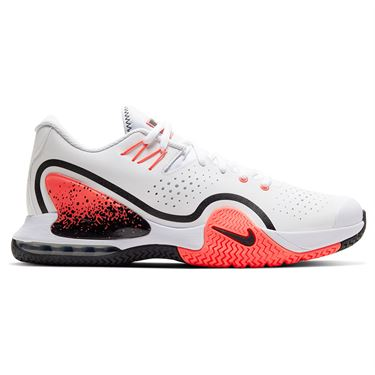 Nike Court Tech Challenge 20 Mens Tennis Shoe - White/Wolf Grey/Hot Lava/Black