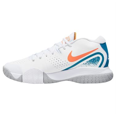 Nike Court Tech Challenge 20 Mens Tennis Shoe White/Total Orange/Green Abyss BQ0234 101