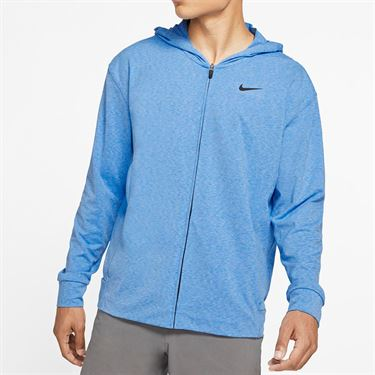 Nike Dri Fit Hoodie - Pacific Blue Heather/Black