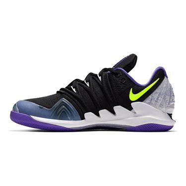 Nike Air Zoom Vapor X Kyrie V Mens Tennis Shoe - Black/Volt/Psychic Purple