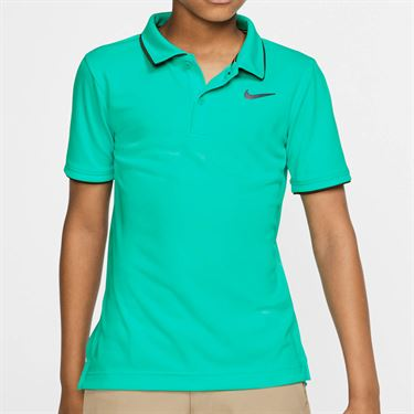 Nike Boys Court Dri Fit Polo - Hyper Jade/Gridiron