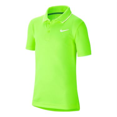 Nike Boys Court Dri Fit Polo Shirt Ghost Green/White BQ8792 358