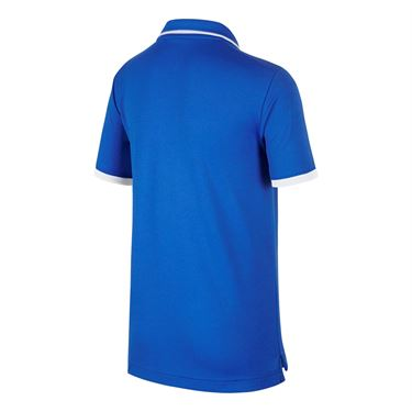 Nike Boys Court Dri Fit Polo - Signal Blue/White