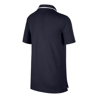 Nike Boys Court Dri Fit Polo - Obsidian/White
