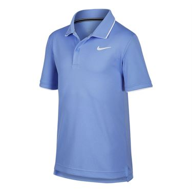 Nike Boys Court Dri Fit Polo Shirt Royal Pulse/White BQ8792 478