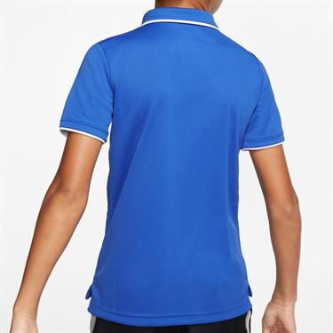 Nike Boys Court Dri Fit Polo Shirt Game Royal/White BQ8792 480
