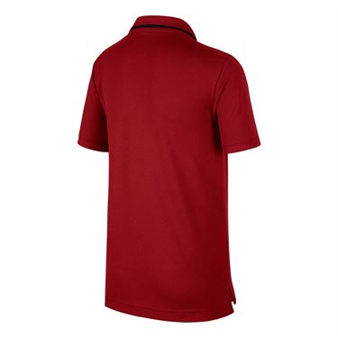 Nike Boys Court Dri Fit Polo - Team Crimson/Black