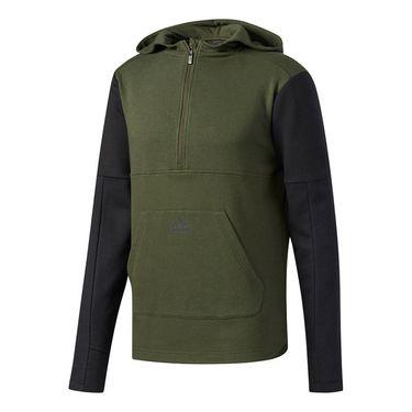 adidas Postgame Fleece 1/2 Zip Hoodie - Night Cargo/Black
