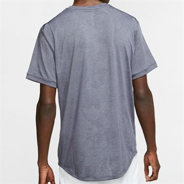 Nike Court Dri Fit Challenger Shirt Mens Gridiron/White BV0766 015