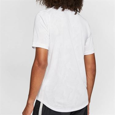 Nike Court Dri Fit Challenger Shirt Mens White/Black BV0766 100