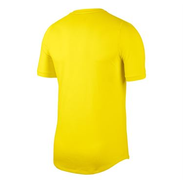 Nike Court Dri Fit Challenger Shirt Mens Opti Yellow/White BV0766 731