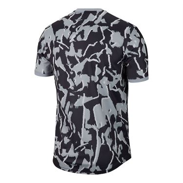 Nike Court Dri Fit Crew Shirt Mens Sky Grey/White BV0768 042