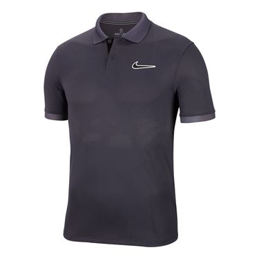Nike Court Breathe Advantage Polo Shirt Mens Gridiron/Off Noir BV0780 015