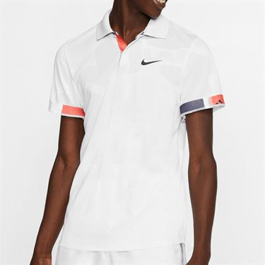 Nike Court Breathe Advantage Polo Shirt Mens White/Off Noir BV0780 100