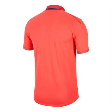 Nike Court Breathe Advantage Polo Shirt Mens Laser Crimson/Off Noir BV0780 644