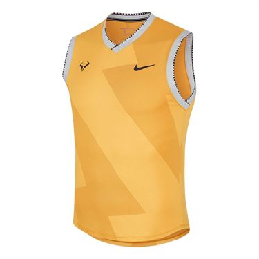 Nike Court Rafa Sleeveless Shirt - Laser Orange/Thunder Grey