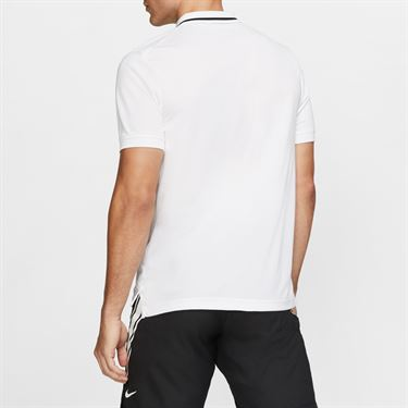 Nike Court Dry Pique Polo - White/Black