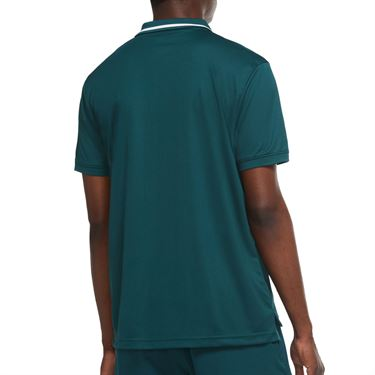 Nike Court Dri Fit Pique Polo Shirt Mens Dark Atomic Teal/White BV1194 300