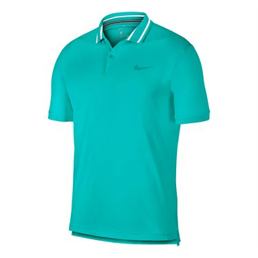 Nike Court Dry Pique Polo - Hyper Jade/White