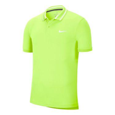Nike Court Dri Fit Pique Polo Shirt Mens Ghost Green/White BV1194 358