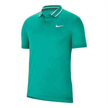 Nike Court Dri Fit Polo Mens Neptune Green/White BV1194 370