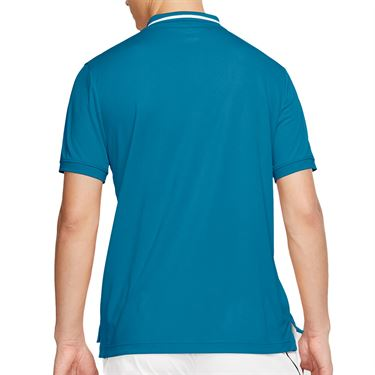 Nike Court Dri Fit Polo Shirt Mens Neo Turquoise/White BV1194 425