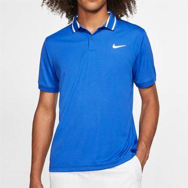 Nike Court Dri Fit Polo Mens Game Royal/White BV1194 480